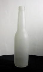 Bottle: beer bottle sandblasted